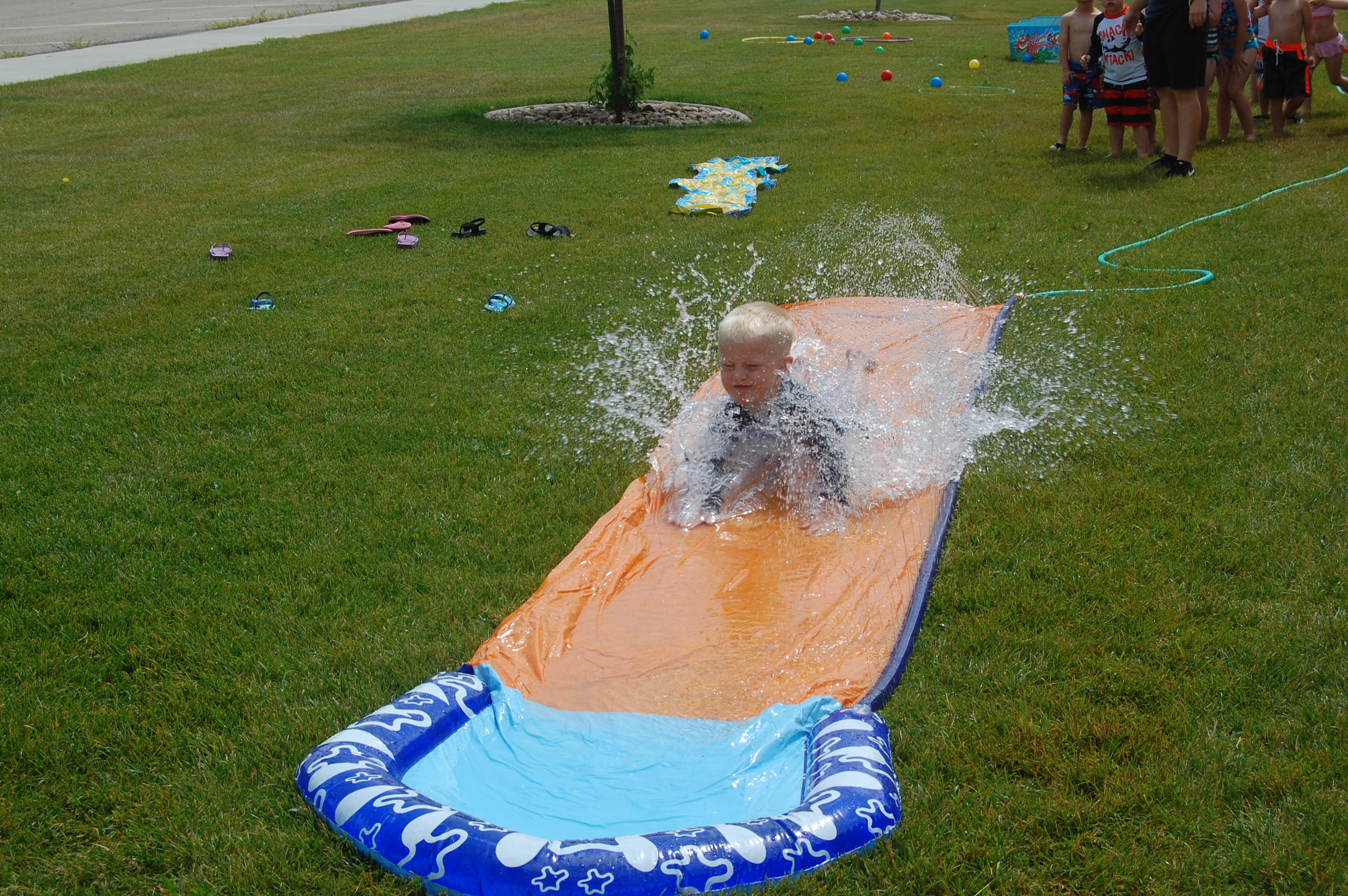 Conrad on the slip n slide