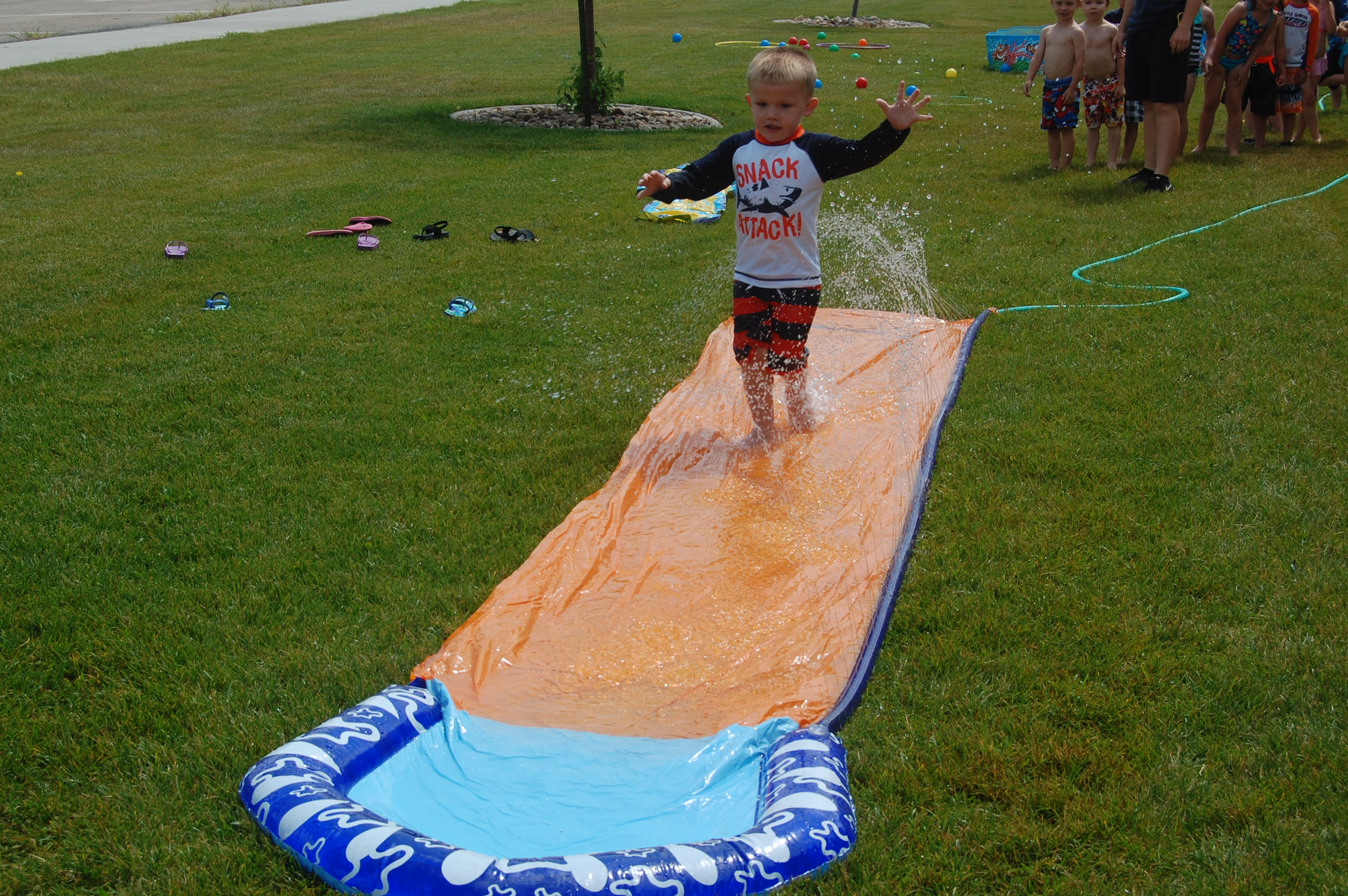 Corbin on the slip n slide