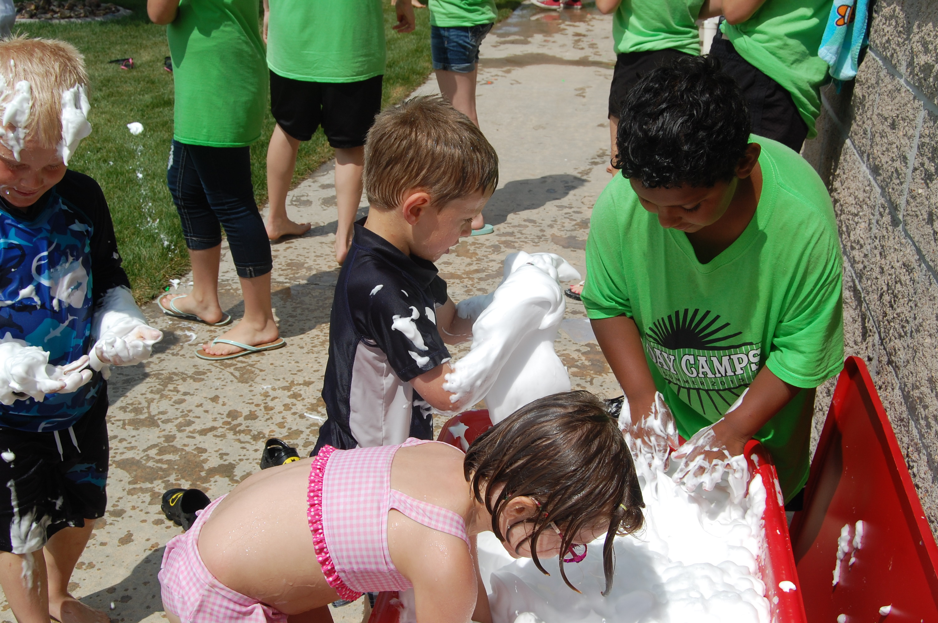digging for treasures in shaving cream