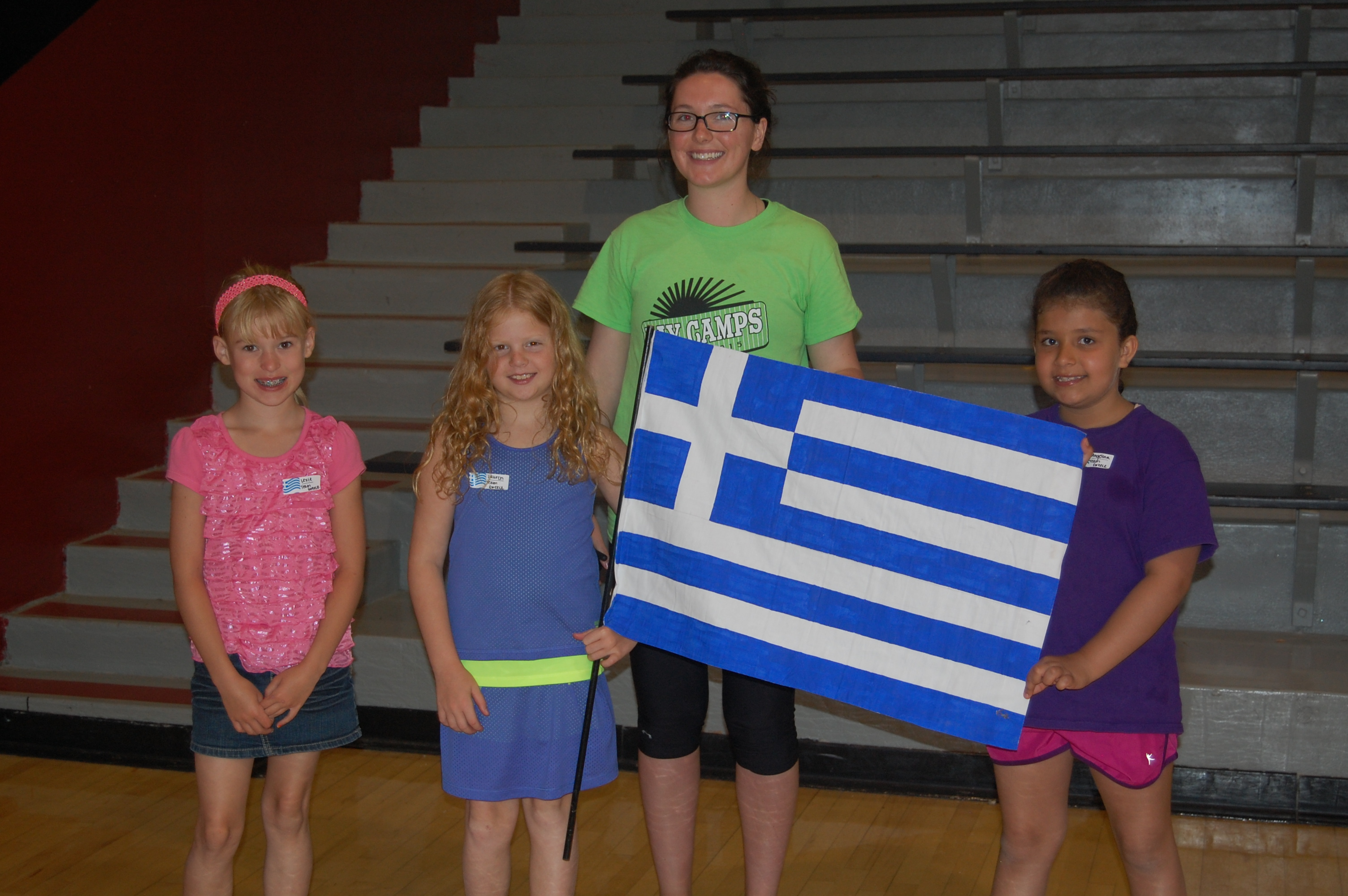 Team Greece with Coach Leiana