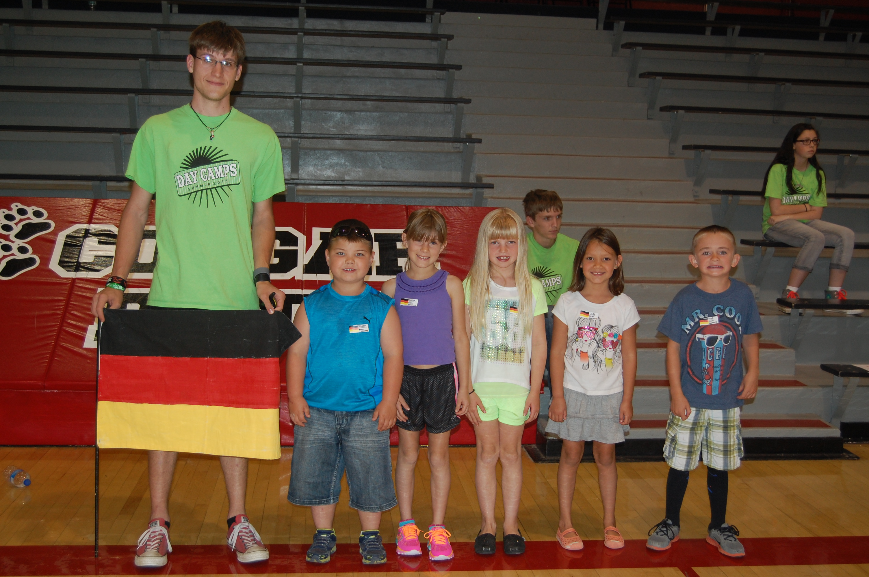 Team Germany with Coach Brett