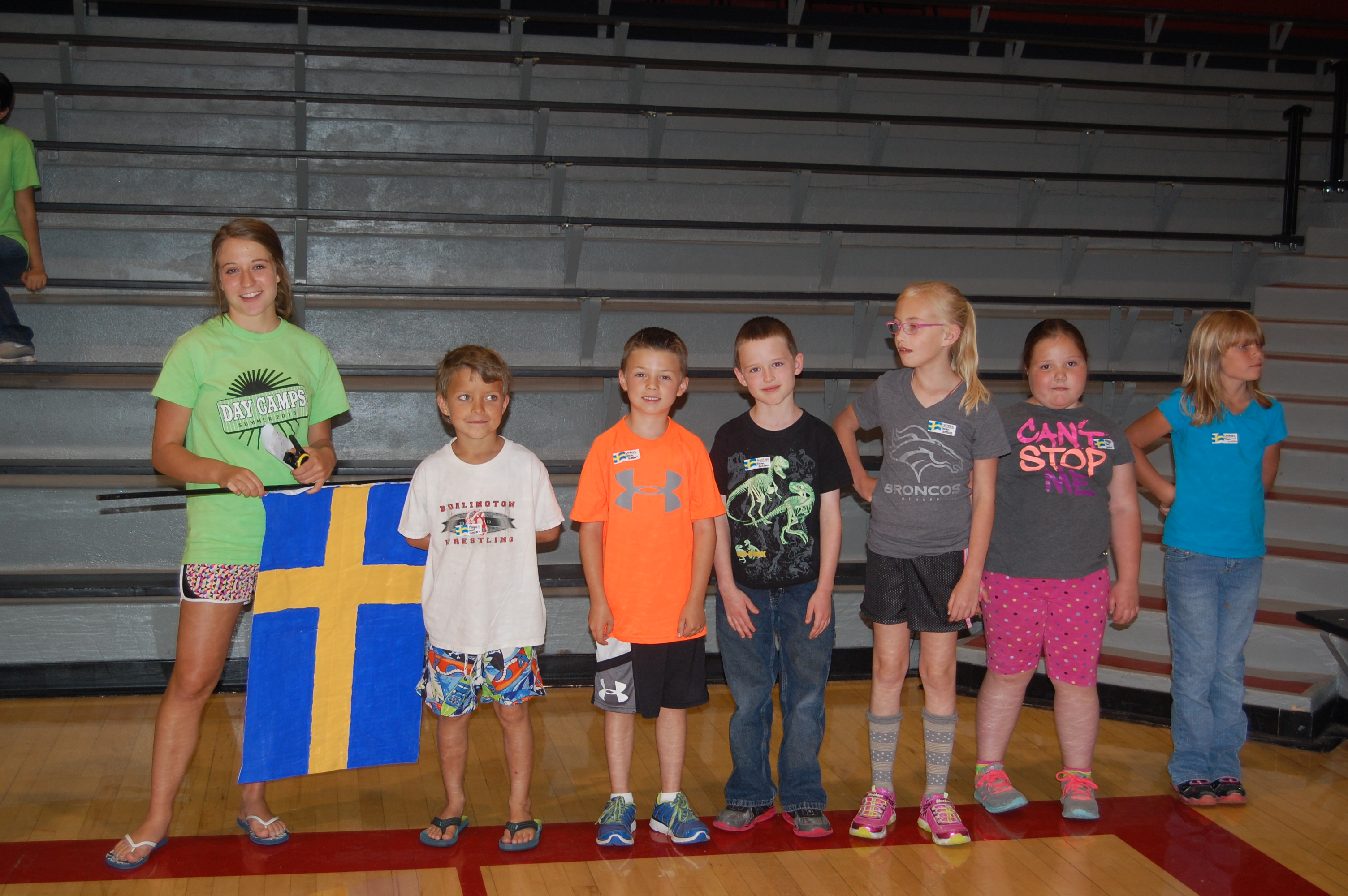 Team Sweden with Coach Sue Ellen