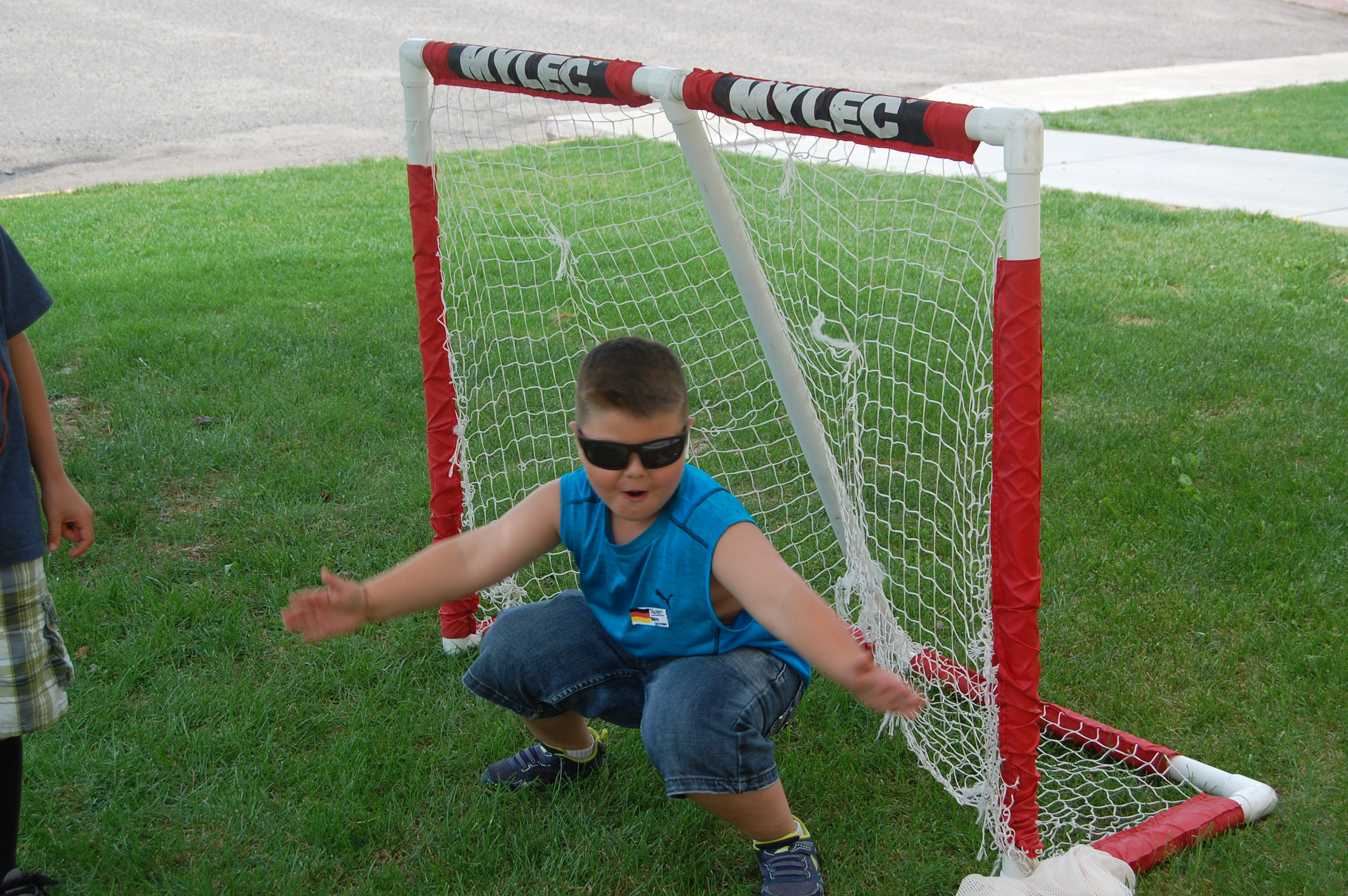 Tavien being the goalie