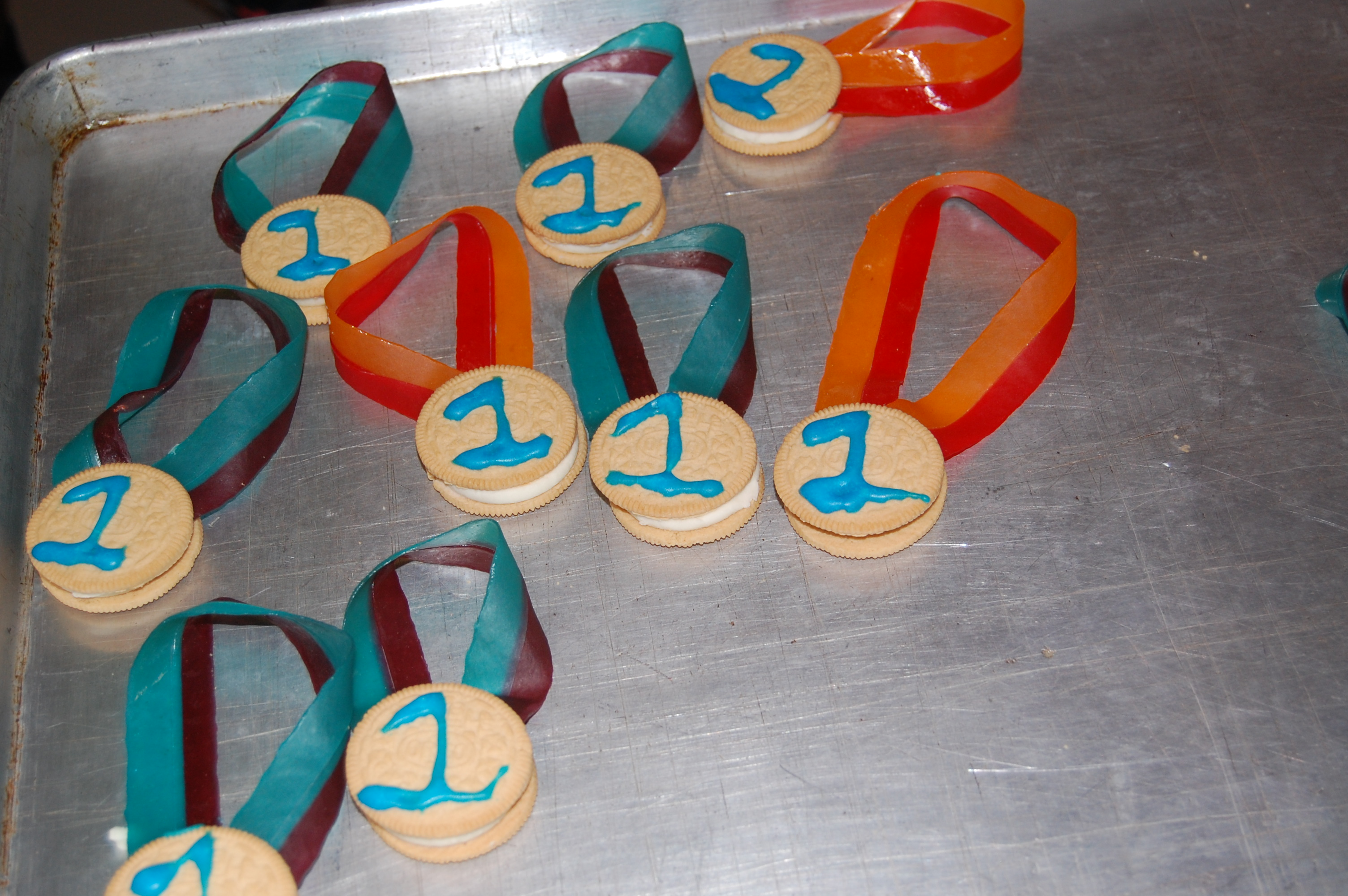 olympic medals for snack